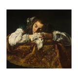 Sleeping Girl Giclee Print by Domenico Fetti