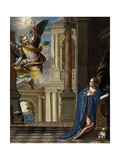 The Annunciation (panel) Giclée-Druck von Paolo Veronese