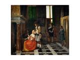 Card Players in an Opulent Interior Giclee Print by Pieter de Hooch