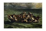 The Shipwreck of Don Juan Reproduction procédé giclée par Eugène Delacroix