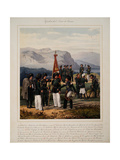 Infantry of the Russian Caucasus Army, 1867 Giclee Print by Karl Karlovich Piratsky