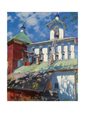 Bell Tower of the Pskovo-Pechersky Monastery Giclee Print by Sergei Arsenyevich Vinogradov
