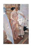 The Pink Robe. after the Bath Giclee Print by Joaquín Sorolla y Bastida