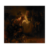 The Denial of Saint Peter, 1660 Giclee Print by  Rembrandt van Rijn