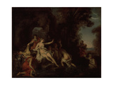 Diana and Actaeon Giclee Print by Louis Galloche