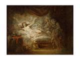 Jupiter and Aegina Giclee Print by Jean-Baptiste Greuze