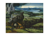 Landscape with Saint Jerome Giclee Print by Joachim Patinir