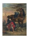 Arab Rider Reproduction procédé giclée par Eugène Delacroix