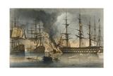 The Naval Battle of Navarino on 20 October 1827 Giclée-Druck von George Philip Reinagle