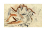 Erotic Drawing Giclee Print by Boris Dmitryevich Grigoriev