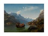 Bridal Journey in Hardanger Reproduction procédé giclée par Hans Gude