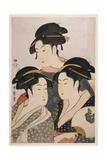 Three Beauties of the Present Day (Toji San Biji) Wydruk giclee autor Kitagawa Utamaro