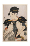 Three Beauties of the Present Day (Toji San Biji) Giclee Print by Kitagawa Utamaro