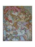 The Christmas Angel Giclee Print by Yumi Sugai