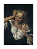 Old Woman Tearing at Her Hair Giclee Print by Quentin Massys