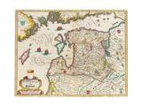 Livonia Map, Vulgo Lyefland, Atlas Maior Giclee Print by Joan Blaeu