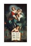 The Madonna of Justice Lámina giclée por Bernardo Strozzi