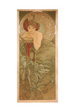 Emerald (From the Series the Gem) Giclee Print by Alphonse Mucha