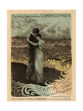 Poster for the Oper Louise by Gustave Charpentier, 1900 Giclee Print by Georges Antoine Rochegrosse