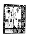 Illustration to the Book Le Morte D'Arthur by Sir Thomas Malory Giclee Print by Aubrey Beardsley