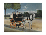 Old Junier's Cart Giclee Print by Henri Rousseau