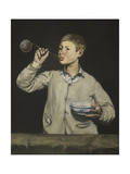 Boy Blowing Bubbles Giclee Print by Édouard Manet