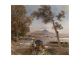 Evening Mood at the Bay of Naples, 1888 Giclee Print by Oswald Achenbach