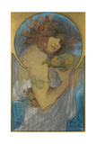 Study for a Poster Fruit Giclee Print by Alphonse Mucha