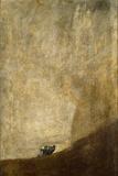 Hunden Giclée-tryk af Francisco de Goya