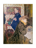 Vallotton and Misia in the Dining Room at Rue Saint-Florentin Giclee Print by Édouard Vuillard