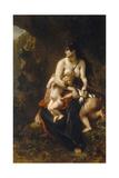 Medea (Médée Furieus) Reproduction procédé giclée par Eugène Delacroix