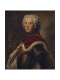 Portrait of Frederick II of Prussia Giclee Print by Antoine Pesne