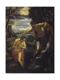 The Baptism of Christ Giclée-tryk af Domenico Tintoretto