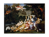 Rinaldo Presents Armida with a Mirror Giclée-tryk af  Domenichino