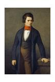 Portrait of Leconte De Lisle (1818-189) Giclee Print by Jean-François Millet