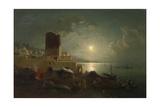View of the Maiden Tower in Baku Giclee Print by Paul von Franken