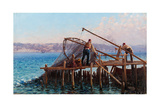 Fishermen Giclee Print by Fausto Zonaro