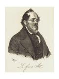 Friedrich List (1789-184) Giclee Print by Josef Kriehuber
