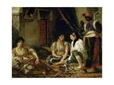 The Women of Algiers in their Apartment Reproduction procédé giclée par Eugène Delacroix