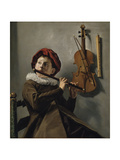Boy Playing the Flute Giclée-tryk af Judith Leyster