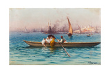 Amusement on the Caique Giclee Print by Fausto Zonaro