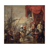 Aeneas at the Court of Latinus Lámina giclée por Ferdinand Bol