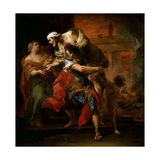 Aeneas Carrying Anchises Giclee Print by Carle van Loo