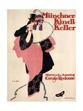 Munich Kindl Keller, 1913 Giclee Print by Hans Rudi Erdt