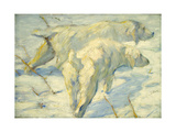Siberian Dogs in the Snow Giclee Print by Franz Marc