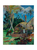 The Black Pigs Giclee Print by Paul Gauguin