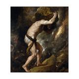 Sisyphus Giclée-tryk af Titian (Tiziano Vecelli)