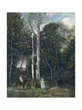 The Parc Des Lions at Port-Marly Giclee Print by Jean-Baptiste Camille Corot