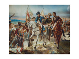 Napoleon at the Battle of Friedland Giclee Print by Claude Joseph Vernet