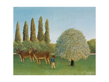 Meadowland (The Pasture) Giclee Print by Henri Rousseau